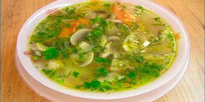 Супы из шампиньонов: постные рецепты