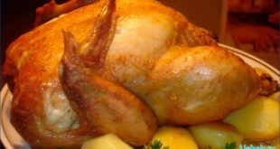 Золотистая курица в микроволновке