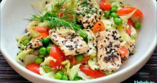 Легкий салат с тофу