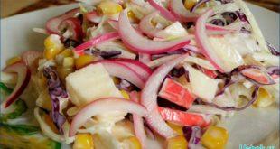 Попробуйте витаминный салат из кольраби и морской капусты