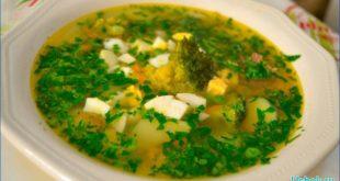 Аппетитный куриный суп с омлетом