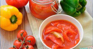 лечо из болгарского перца и томатной пасты