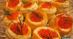 Рецепты с красной икрой для торжественного стола