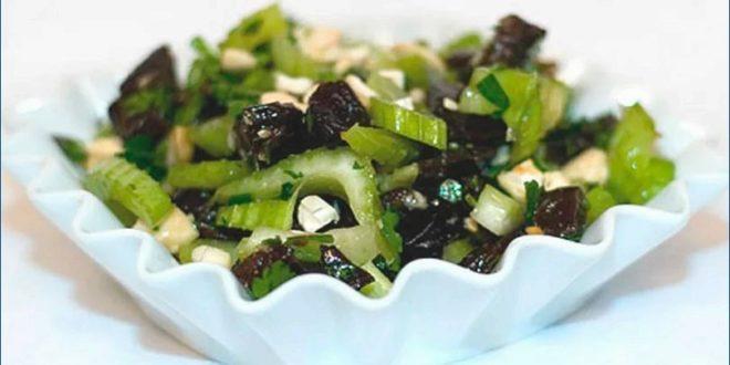 Салат с сельдереем и черносливом для похудения