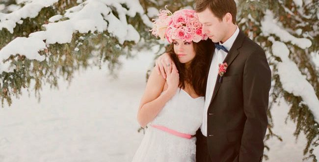 Зимние свадебные аксессуары