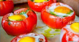 Вкусные помидоры фаршированные яйцами