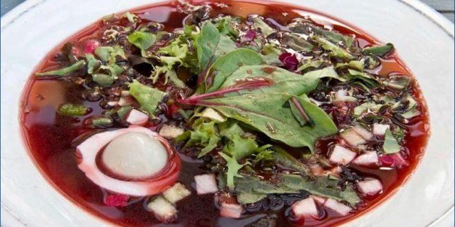 Холодный суп Ботвинья