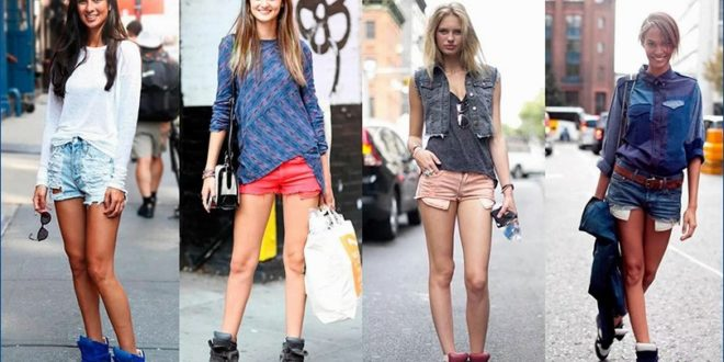 С чем носить шорты в различное время года
