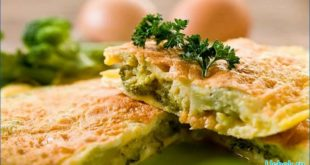 Омлет из капусты брокколи