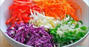 Витаминные салаты из капусты