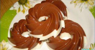Желе из сметаны и шоколада